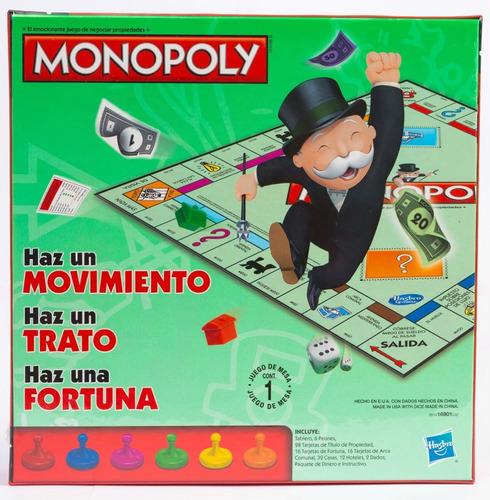 monopolio de  original hasbro monopoly