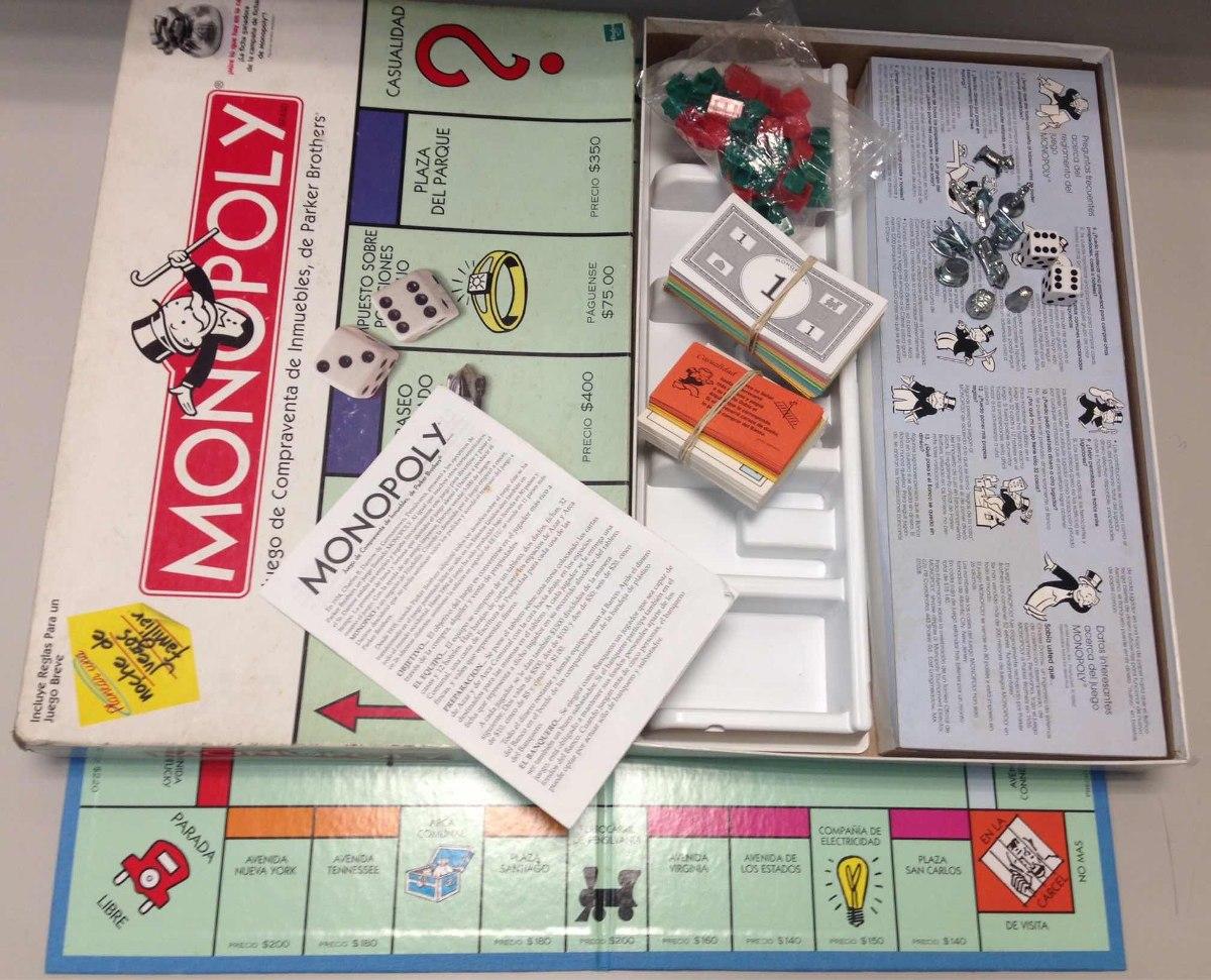 Monopolio Juego De Mesa Monopoly Espanol Original Hasbro Bs 220