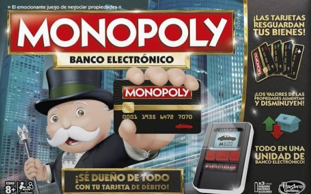 Monopoly Banco Electronico En Espanol Juego De Mesa Hasbro