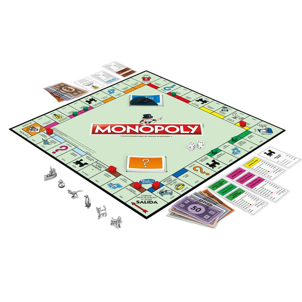 Monopoly Chile Estrategia Juego Mesa Original Hasbro 14 990