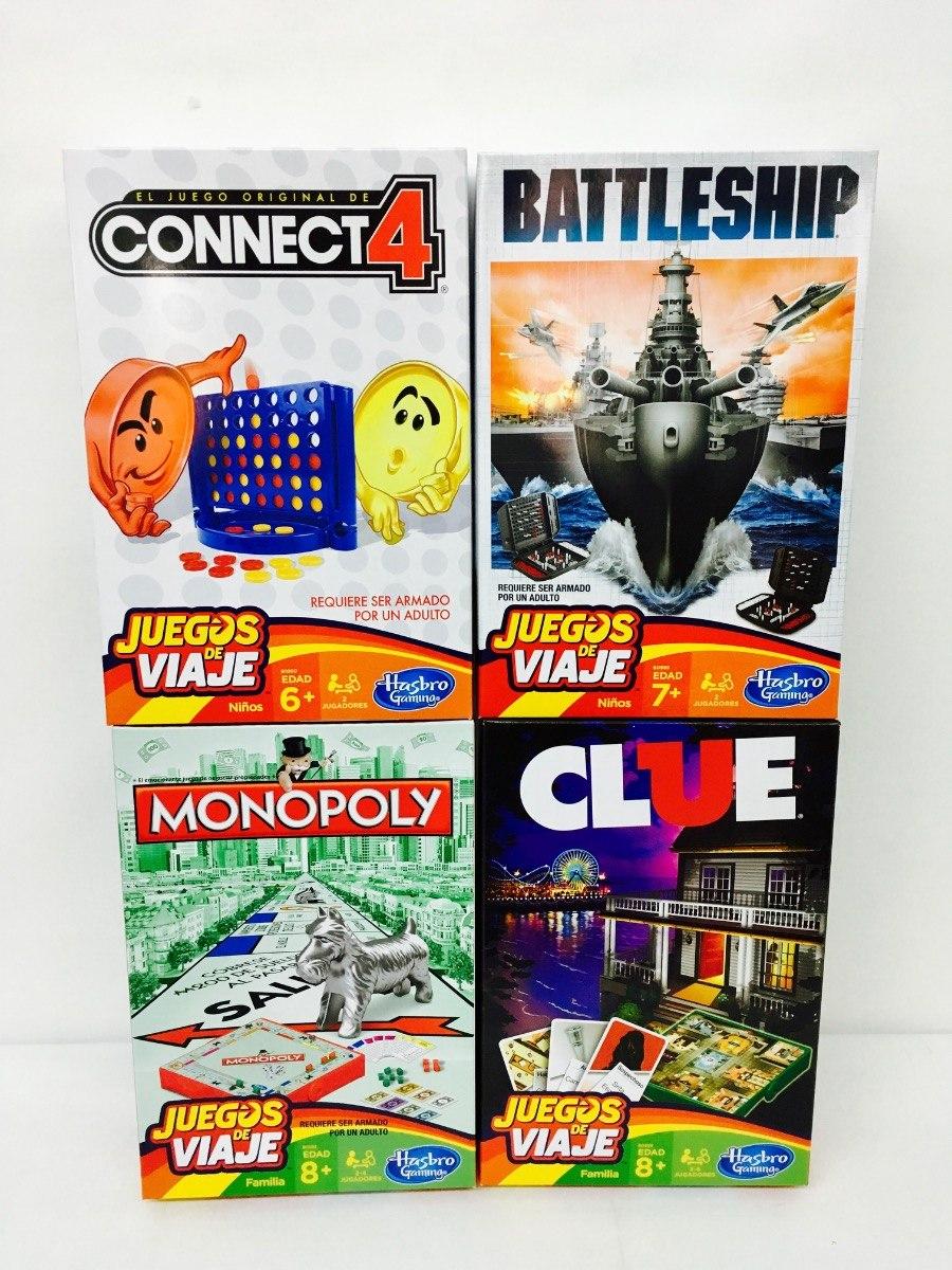 Monopoly Clue Battleship Mini Pack Juegos De Mesa Hasbro 599 00