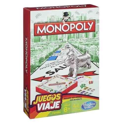 Monopoly Edicion Juegos De Viaje B1004 Hasbro 559 00 En Mercado