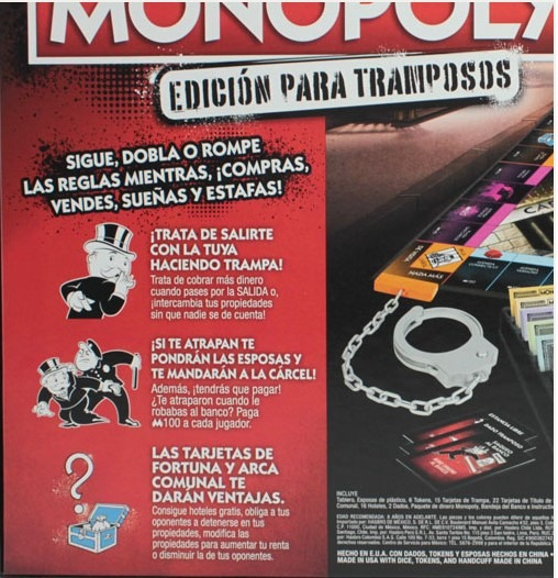 Monopoly Edicion Para Tramposos 100 Original 159 900 En Mercado