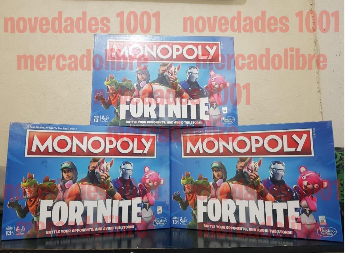 Monopoly Fortnite Edition Juego De Mesa Navidad Importado 700 00