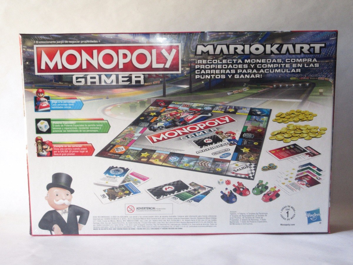 Monopoly Gamer Mario Kart Juego De Mesa 539 00 En Mercado Libre
