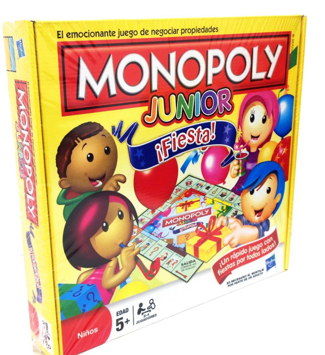 Monopoly Junior Fiesta Juego De Mesa Para Ninos Hasbro