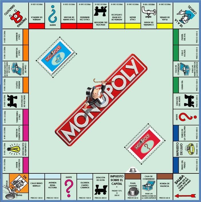 Monopoly Clasico Juego De Mesa Propiedades Toyco Hasbro 999 00