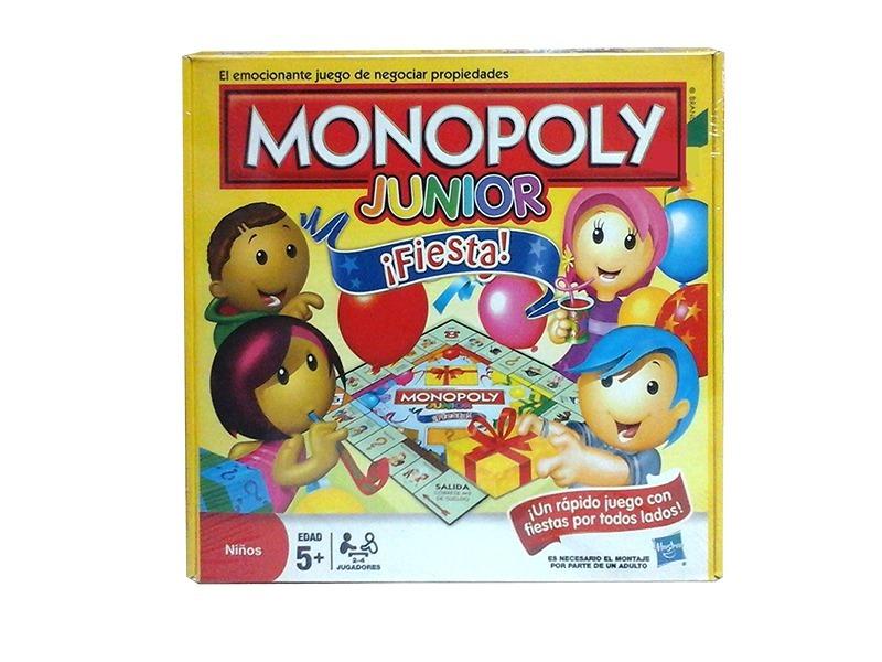 Monopoly Junior Fiesta Juego De Mesa Ninos Original Hasbro 549
