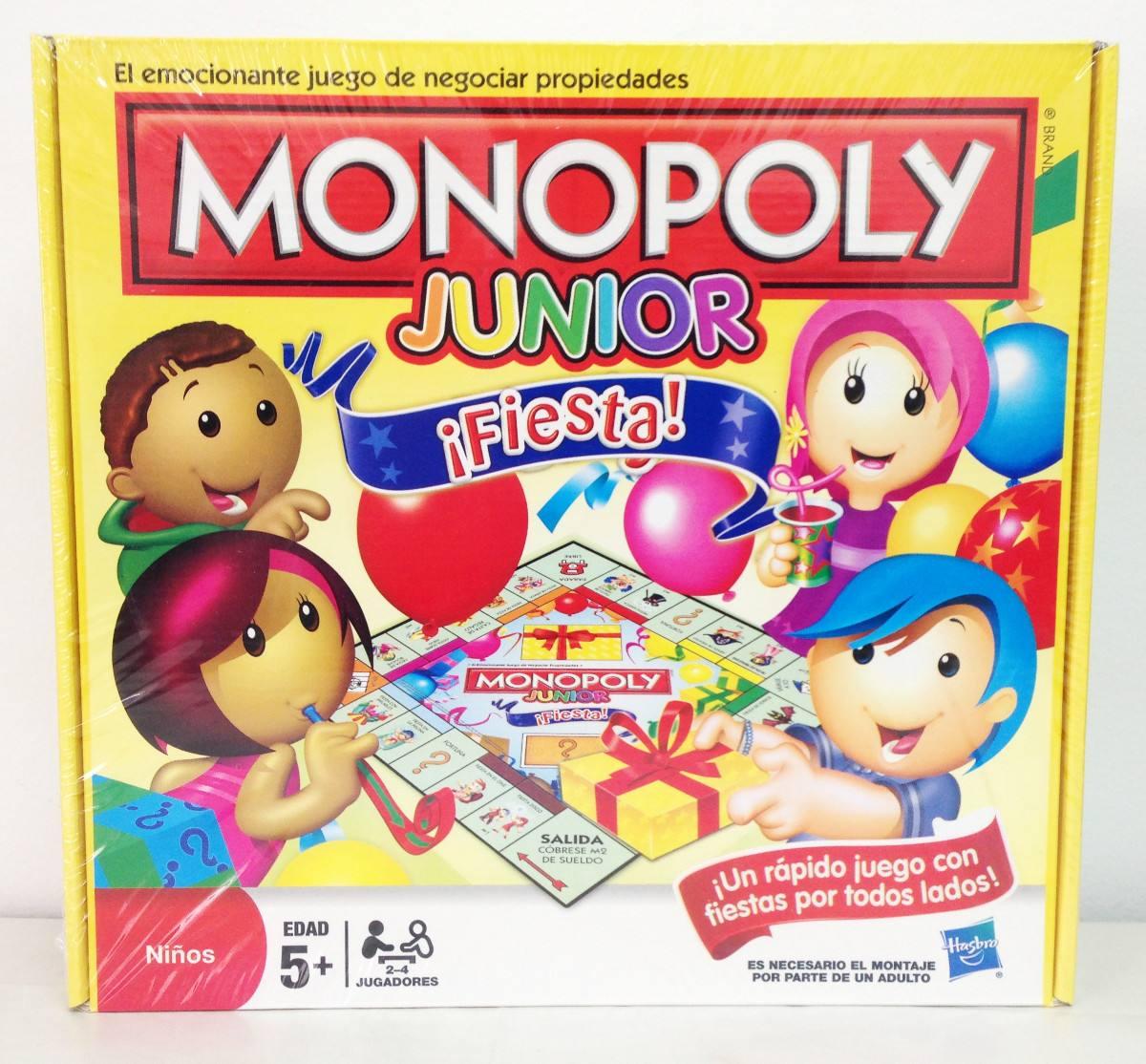 Monopoly Junior Fiesta Juego De Mesa Para Ninos Hasbro 509 00 En