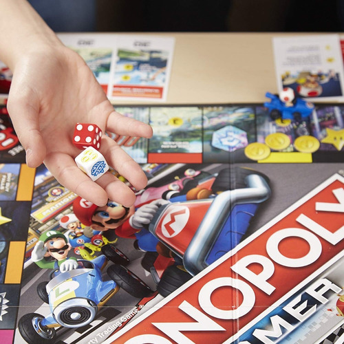 monopoly mario kart hasbro e1870 gamer juego de mesa edu