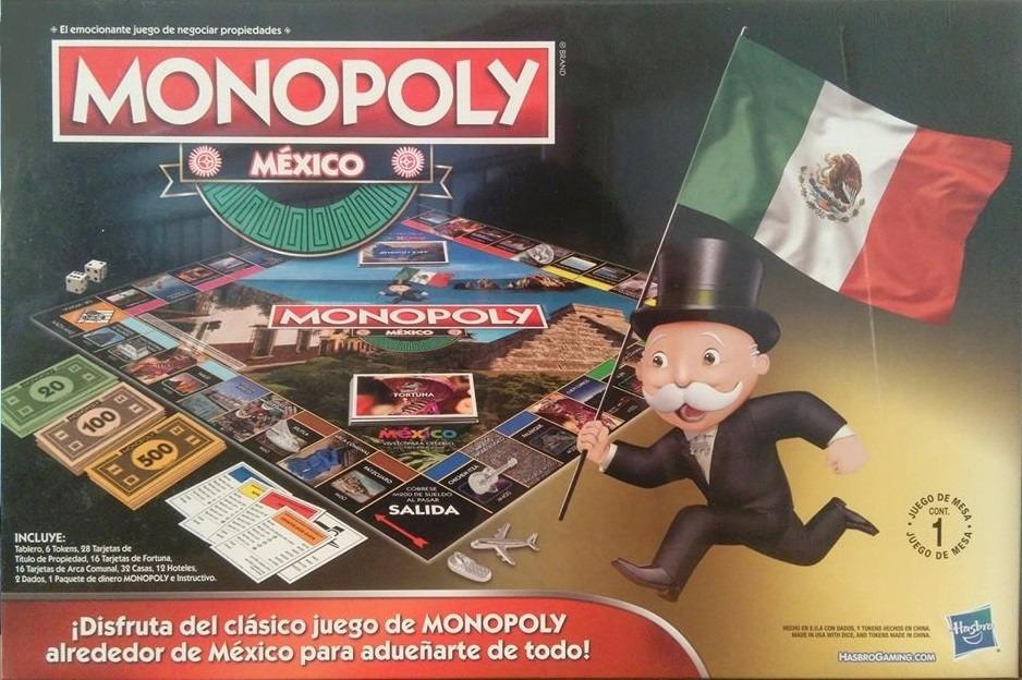 Monopoly Mexico Hasbro Juego De Mesa 359 00 En Mercado Libre