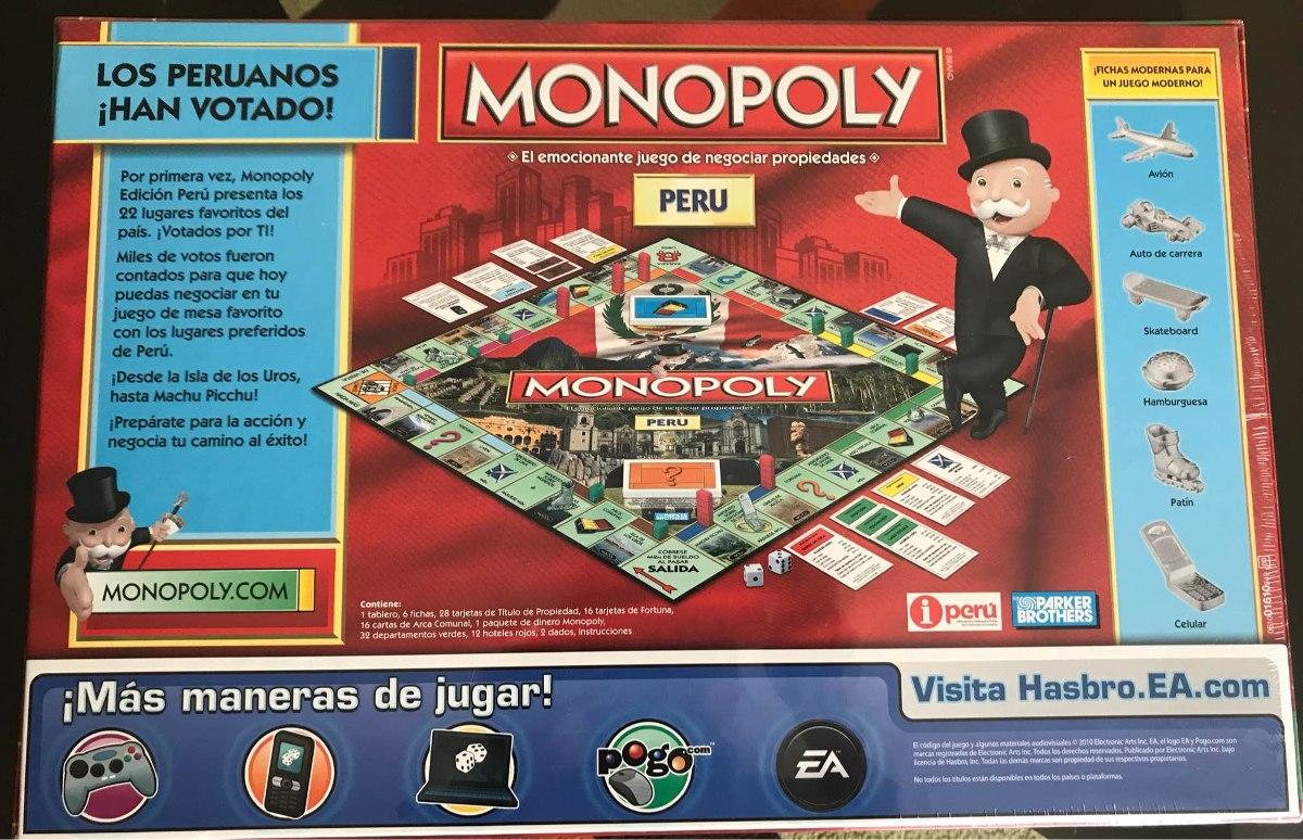 Monopoly Peru De Hasbro S 85 00 En Mercado Libre
