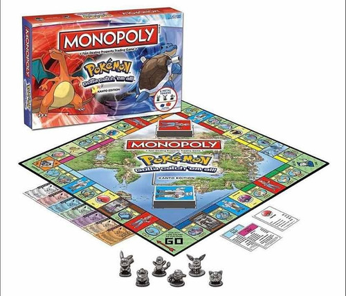 monopoly pokémon kanto edición