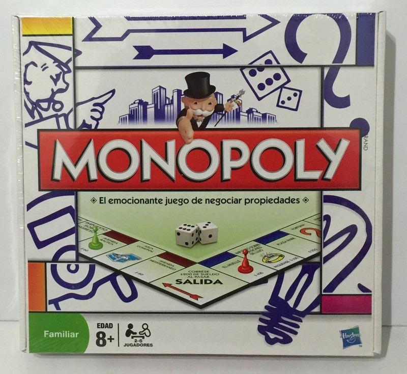 Monopoly Popular Juego De Mesa Familiar Hasbro Original 600 00