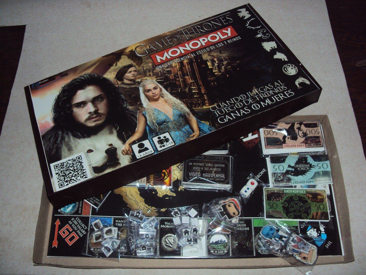 Monopoly Version Juego De Tronos Juego D Mesa Personalizado Bs