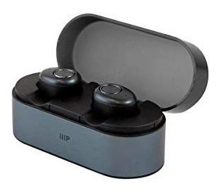 monoprice mp true auriculares inalámbricos, color negro con