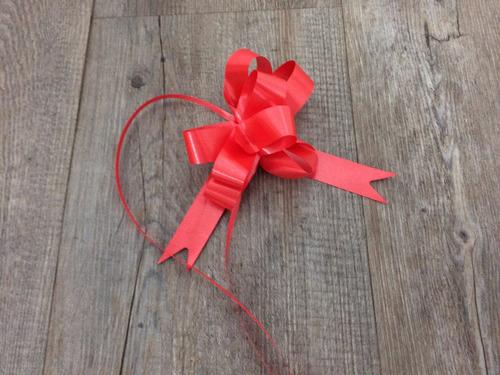 moños para regalo rojo