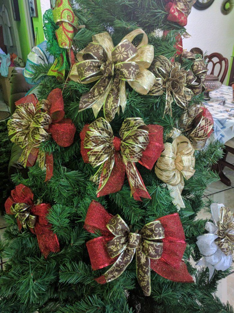 Mo os nochebuenas adornos esferas para arbol navidad guias - Lazos arbol navidad ...