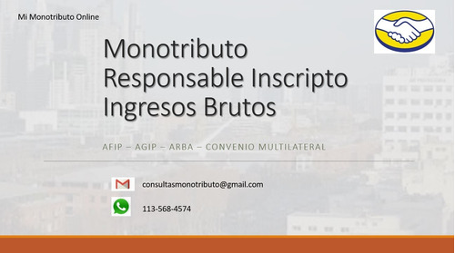 monotributo - ingresos brutos - res. inscripto - contador