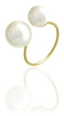monreale  anel dior pérola shell made inspired ouro 18k-750