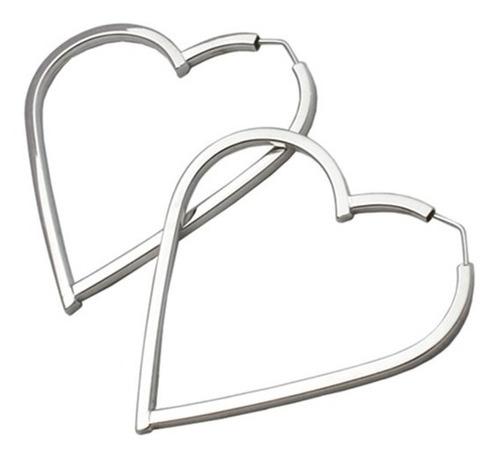 monreale argola de ouro branco modelo coração