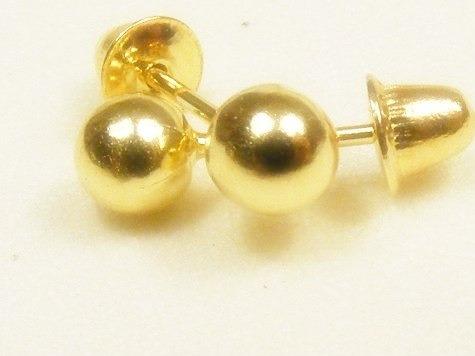 monreale brinco bola globo  ouro 18k-750 para qualquer furo