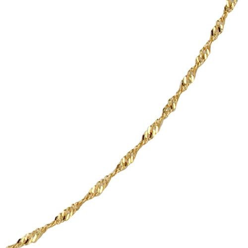 monreale corrente em ouro 18k  singapura 45cm e 1,5 gramas