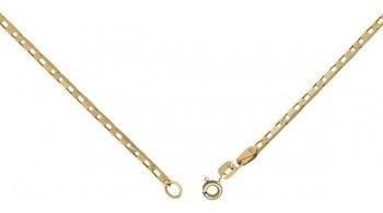 monreale corrente feminina em ouro 18k-750 elos piastrine