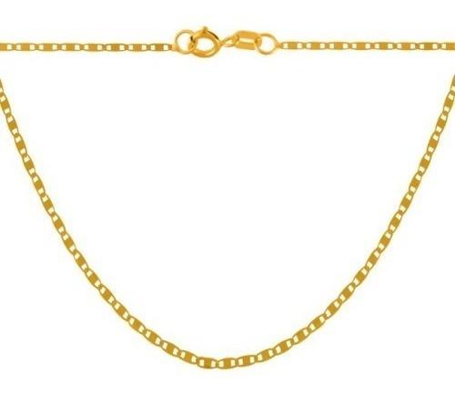 monreale corrente masculina em ouro 18k-750 elos piastrine