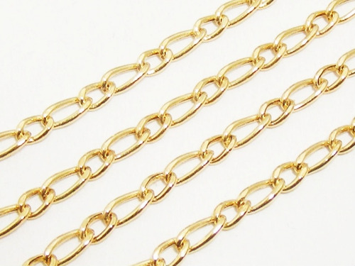 monreale corrente masculina em ouro 18k elos grumet 1 x1