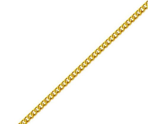 monreale corrente masculina em ouro 18k  grumet curtos 60cm