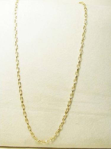 monreale linda corrente feminina em ouro 18k elos ovais