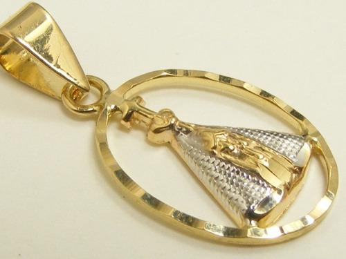 monreale linda nossa sra. aparecida de ouro 18k maciço