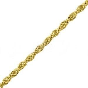 monreale linda pulseira estilo corda em ouro 18k maciço