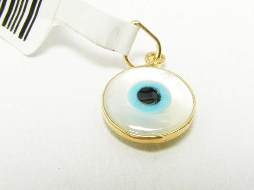 monreale lindo pingente olho grego  madre pérola e ouro 18k