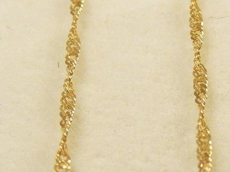 monreale maravilhosa corrente em ouro 18k maciço singapura