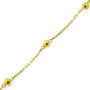 monreale pulseira infantil de ouro 18k bolinhas