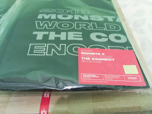 monsta x - the connect  ( official goods )  | bolso | nuevo!