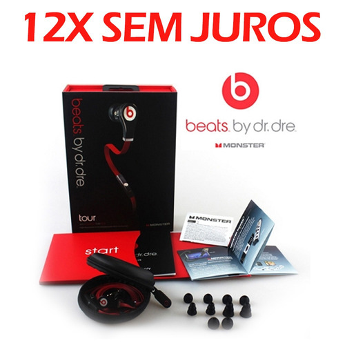 monster beats by dr. dre tour black fone de ouvido beat