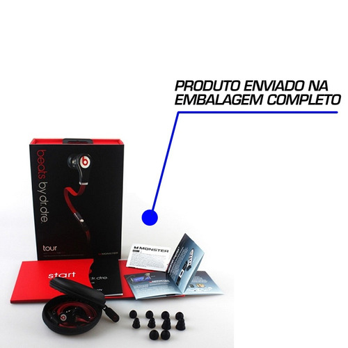 monster beats by dr. dre tour dr earbuds inear fone para