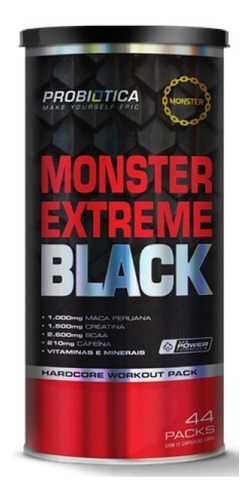 monster extreme black 44 packs probiótica nova fórmula