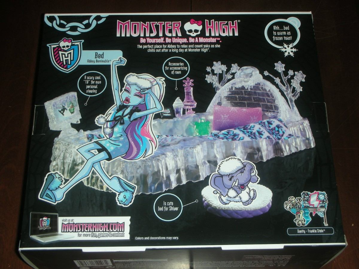 Monster high abbey cama frankie vanity peinador tocador for Muebles de monster high