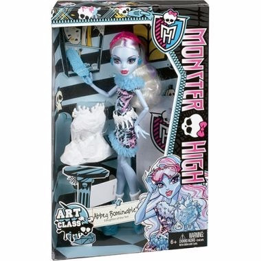 monster high aula de arte - abbey bominable bdf13 - mattel