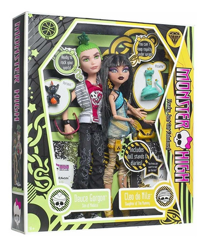 monster high cleo de nile y deuce gorgon giftset.