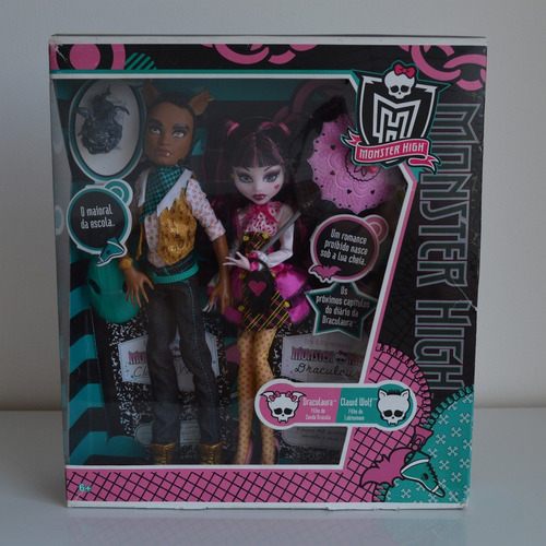 monster high draculaura & clawd wolf - school's out