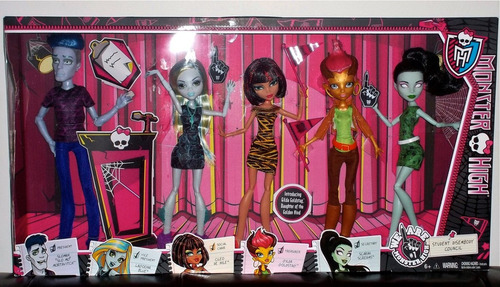 monster high student  disembody council 5 pack
