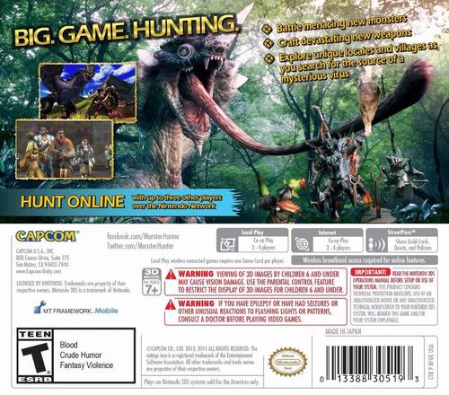 monster hunter nintendo 3ds, 3ds