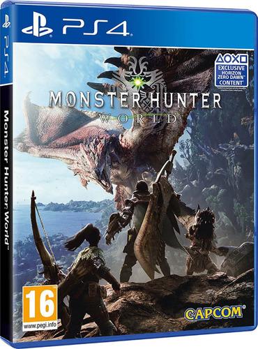 monster hunter world ps4 físico nuevo sellado