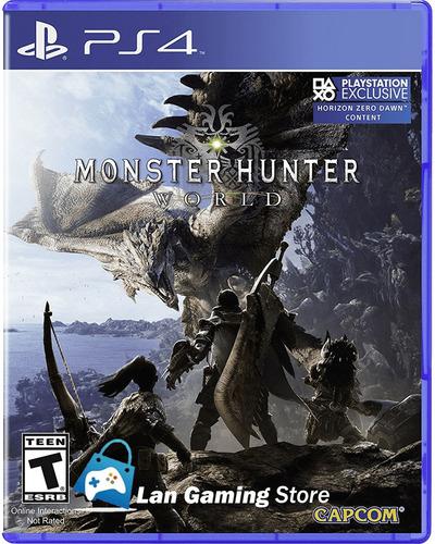 monster hunter world ps4 nuevo sellado poster gratis