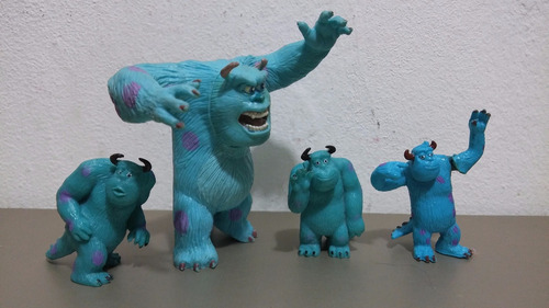 monster inc sulley 4 figuras